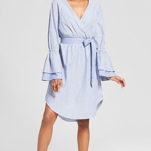 Target A New Day Midi Wrap Dress Bell Sleeves